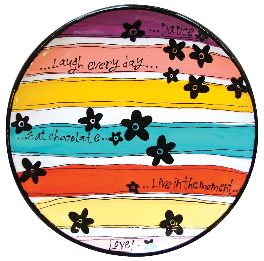 Hand Painted Pottery New Year S Resolution Plate As You Wish Pottery