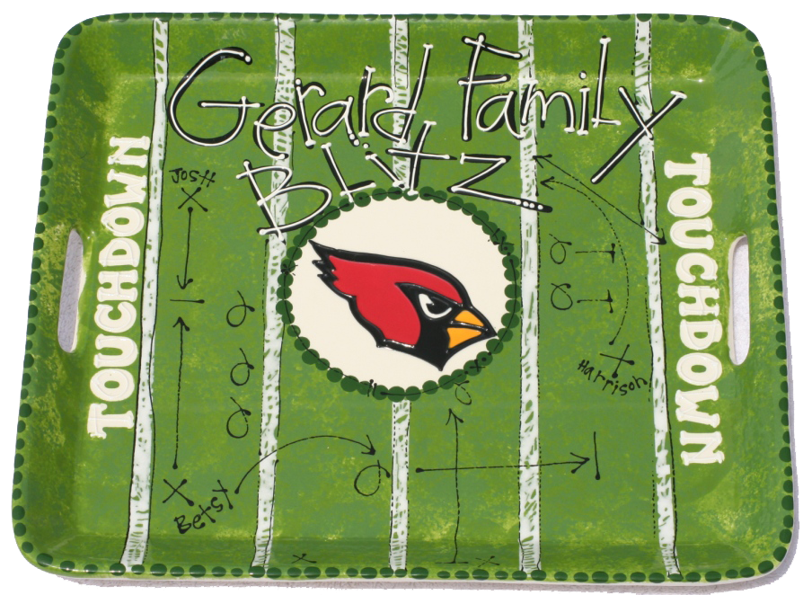 Football Serving Tray