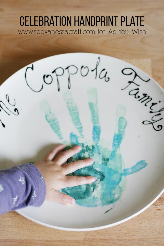 Celebration Handprint Plate