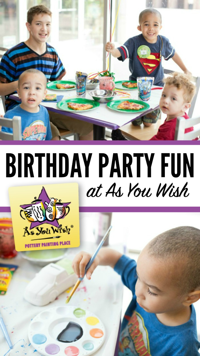 As You Wish Pottery Birthday Party