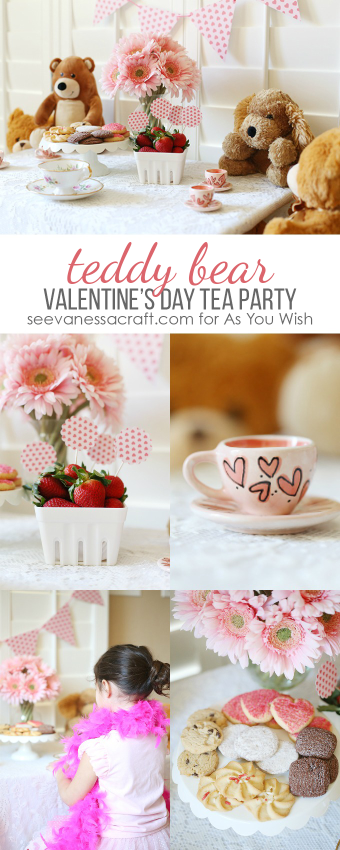 Valentines Day Teddy Bear Tea Party for As You Wish