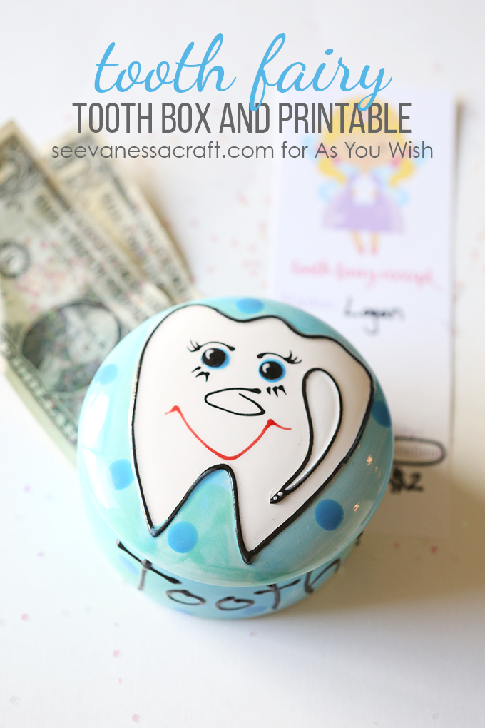 image relating to Free Printable Tooth Fairy Receipt referred to as Teeth Fairy Receipt and Teeth Box As Your self Need Pottery